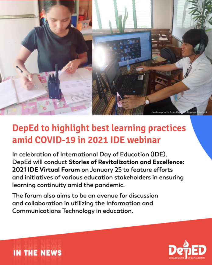 DepEd to highlight best learning practices