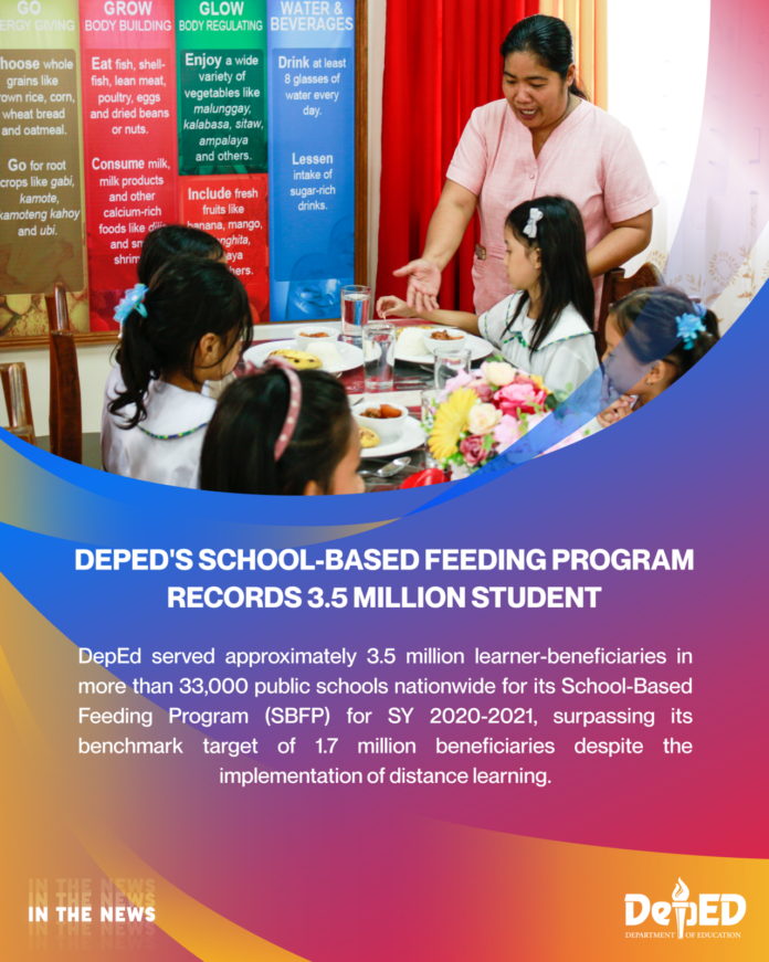 Feeding Program records 3.5 million student