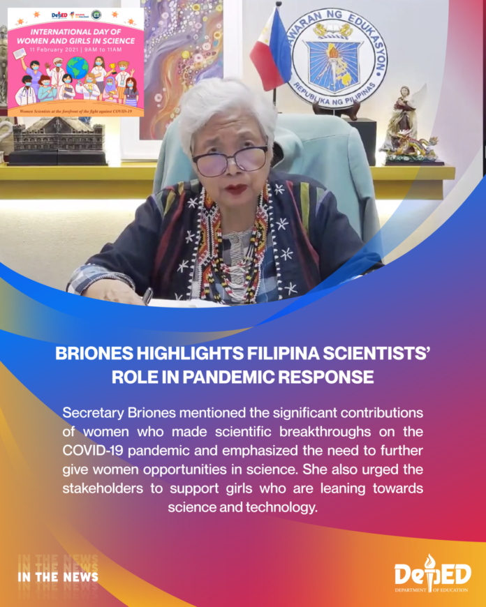 Briones highlights Filipina scientists' role in pandemic response