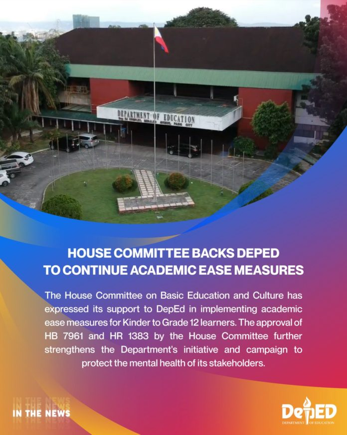 House Committee backs DepEd