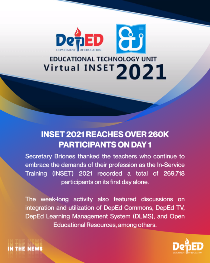INSET 2021 reaches over 260k