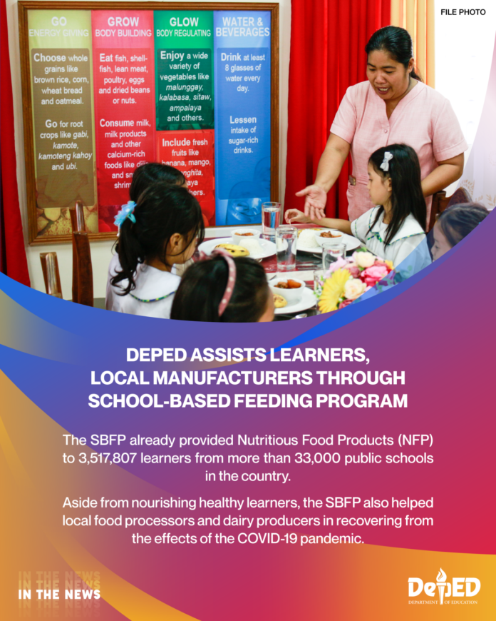 DepEd assists learners local manufacturers