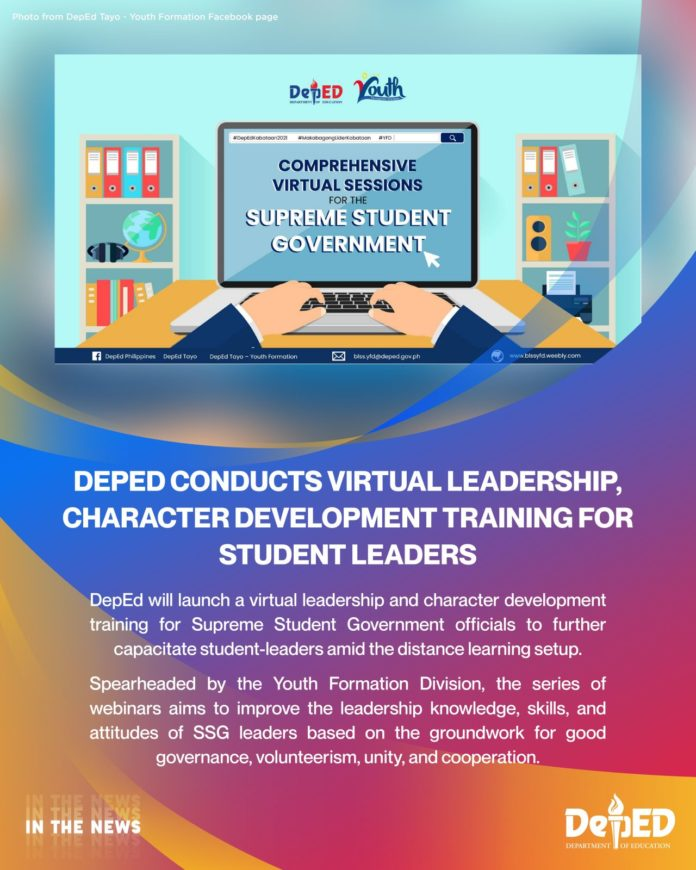 the Department of Education offers virtual leadership and character building instruction