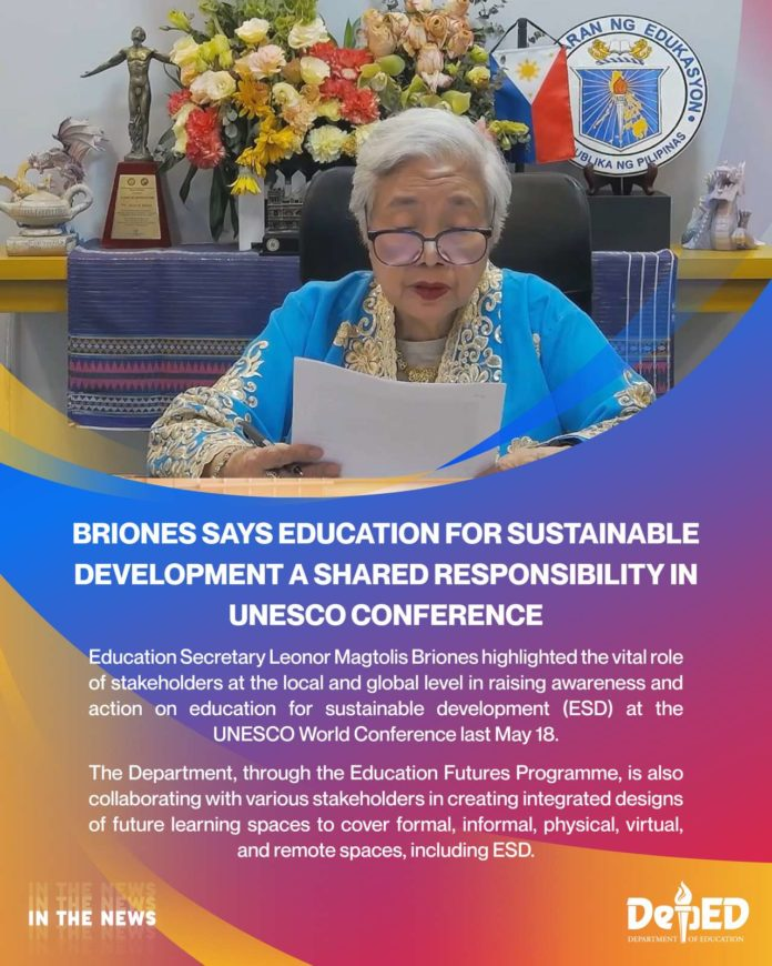 Briones says Education for Sustainable Development a shared responsibility in UNESCO Conference