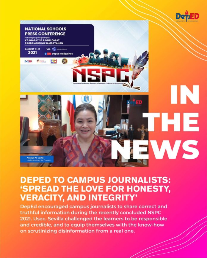DepEd to campus journalists