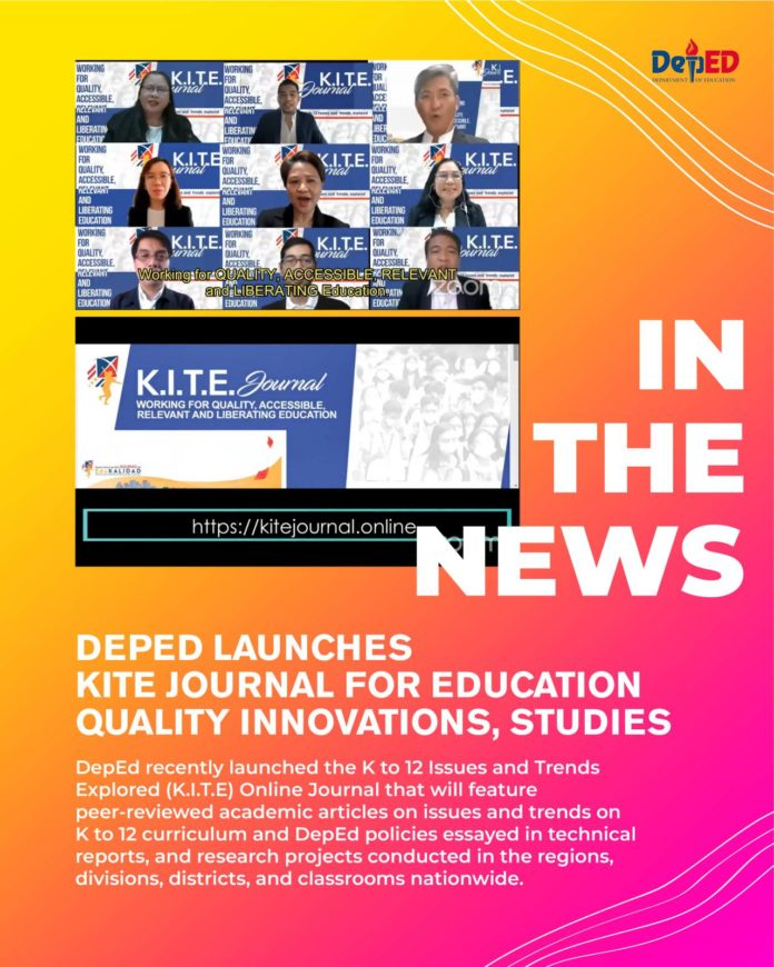 DepEd launches KITE journal for education quality