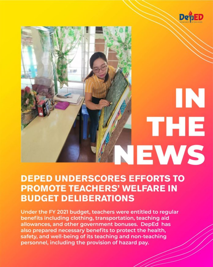 DepEd underscores efforts to promote teachers' welfare in budget deliberations