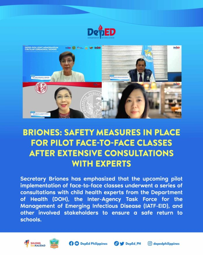 Briones: Safety measures in place for pilot face-to-face classes after extensive